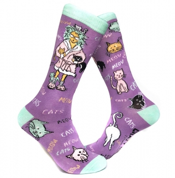 Crazy Cat Ladies UNITE! Socks for the WIN!