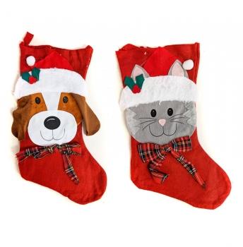 Dog and Cat Christmas Stockings