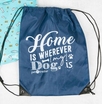 Home is Wherever My Dog Is - Drawstring Bag by Pet Treater