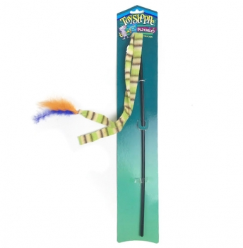 Interactive Cat Feather Wand by Toy Shoppe
