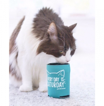 'Everyday is Caturday' Neoprene Koozie by Pet Treater