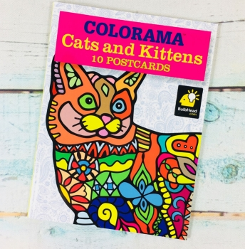 Colorama Cats and Kittens - 10 Postcards You Can Color In!