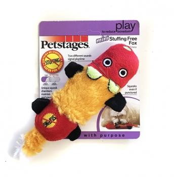 Petstages Mini Stuffing Free Fox Squeak Toy