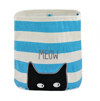 Meow Canvas Storage Bins for Pet Toys & Accessories