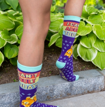 Nope Not Today - Can't Adult Socks