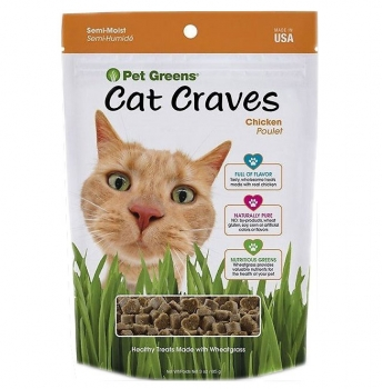 Pet Greens Cat Craves Roasted Chicken Semi-Moist Cat Treats