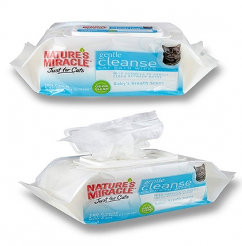 Cat Wipes Natures Miracle 100 Count